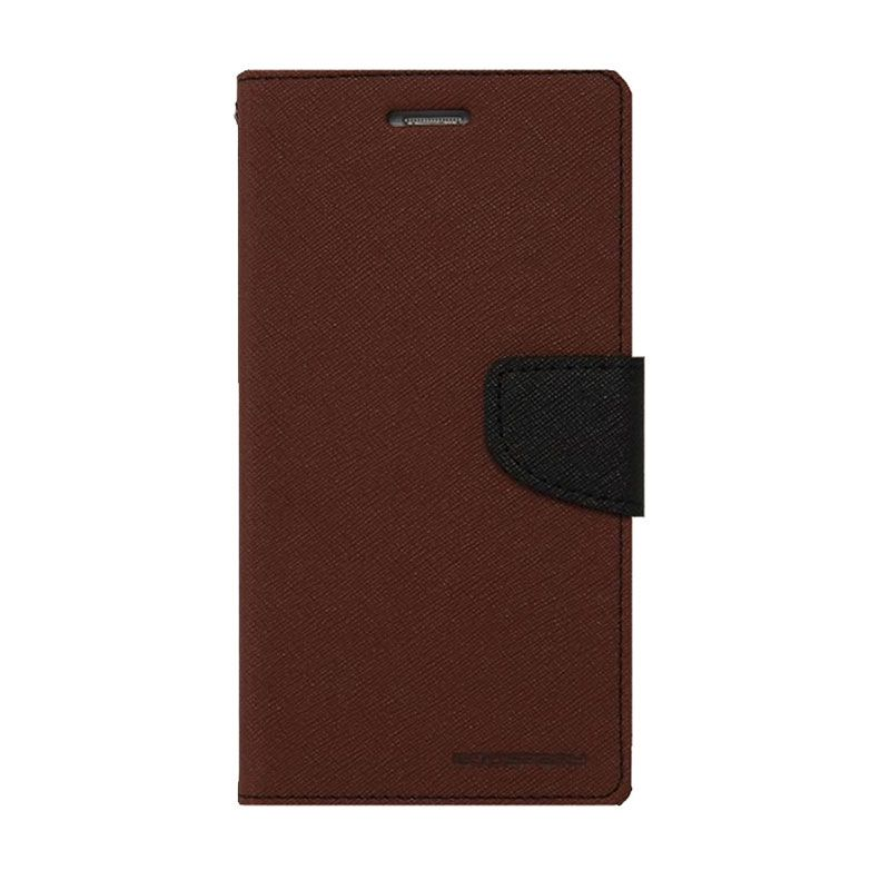 Mercury Goospery Fancy Diary Brown Black Casing for Galaxy Note 3