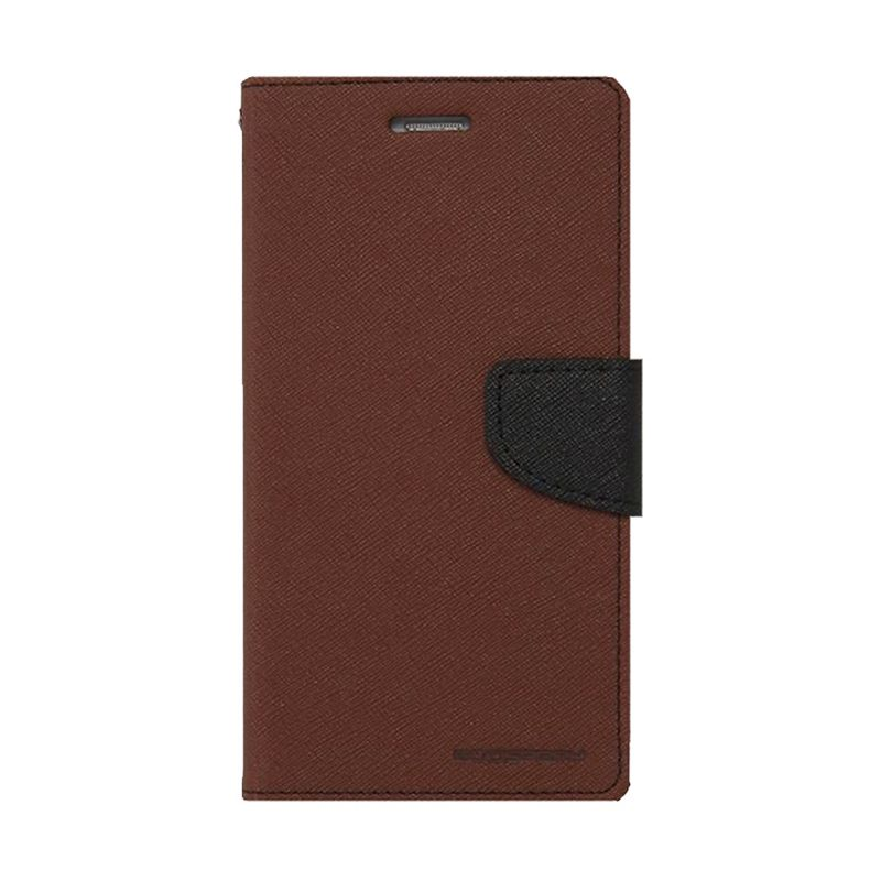 Mercury Goospery Fancy Diary Brown Black Casing for Samsung Galaxy E7