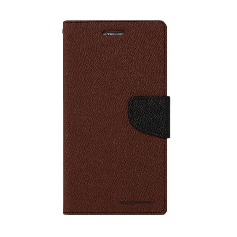 Mercury Goospery Fancy Diary Brown Black Casing for Xiaomi Mi3