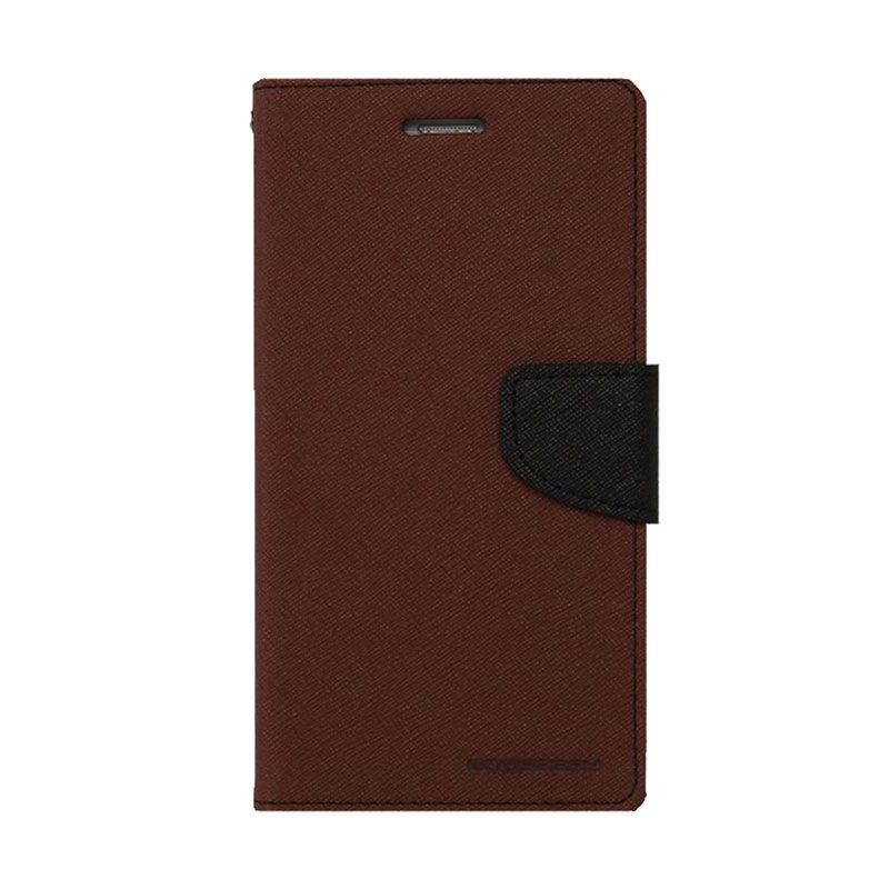 Mercury Goospery Fancy Diary Brown Black Casing for Xperia T2 Ultra