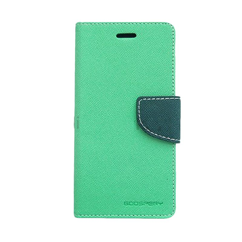 Mercury Goospery Fancy Diary Hot Mint Navy Flip Cover Casing for Xiaomi Note 2
