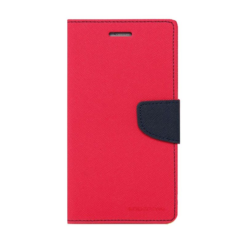 Mercury Goospery Fancy Diary Hotpink Navy Casing for HTC New One