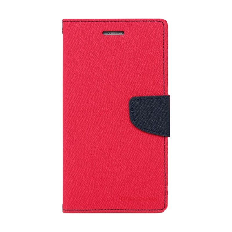 Mercury Goospery Fancy Diary Hot Pink Navy Casing for Nokia XL