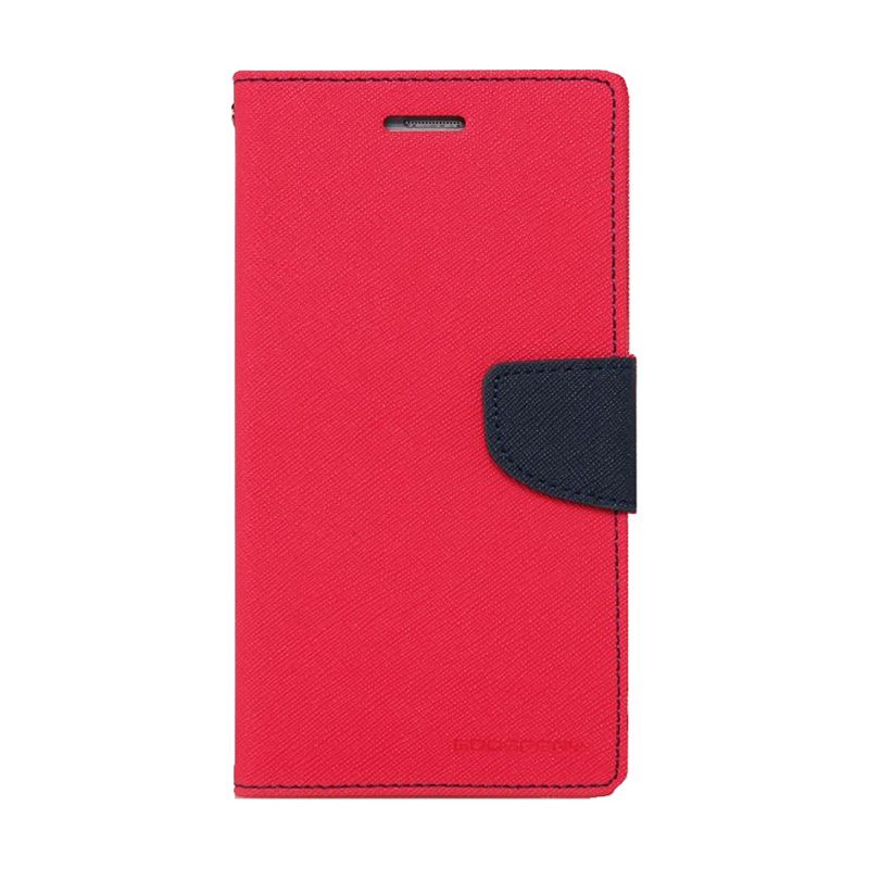 Mercury Goospery Fancy Diary Hot Pink Navy Casing for Oppo R5