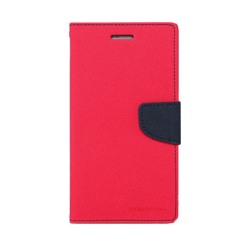 Mercury Goospery Fancy Diary Hot Pink Navy Casing for Samsung Grand Prime