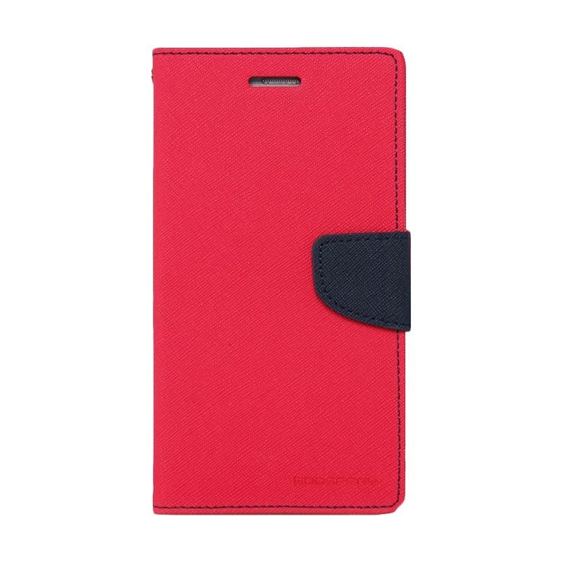 Mercury Goospery Fancy Diary Hotpink Navy Casing for Galaxy A3