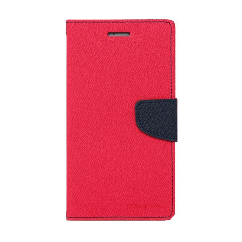 Mercury Goospery Fancy Diary Hotpink Navy Casing for Galaxy Note 3