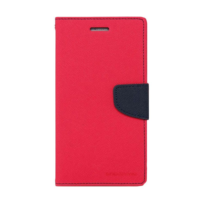 Mercury Goospery Fancy Diary Hotpink Navy Casing for Galaxy S5