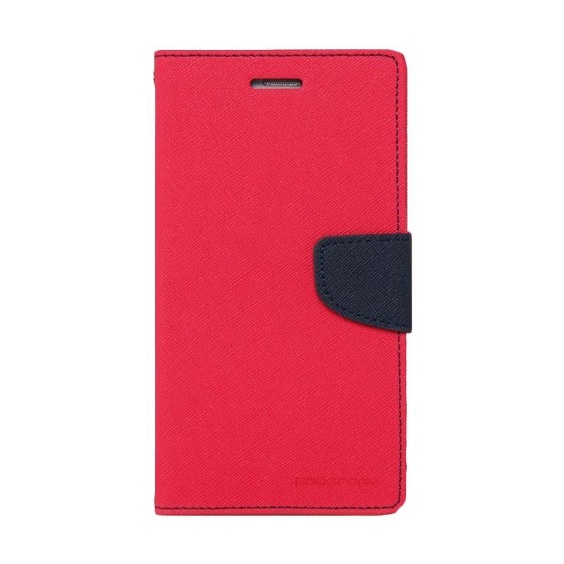 Mercury Goospery Fancy Diary Hotpink Navy Casing for LG G3