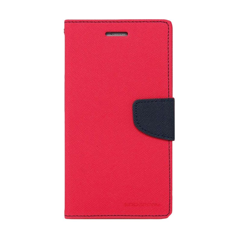 Mercury Goospery Fancy Diary Hotpink Navy Casing for Oppo Find 7