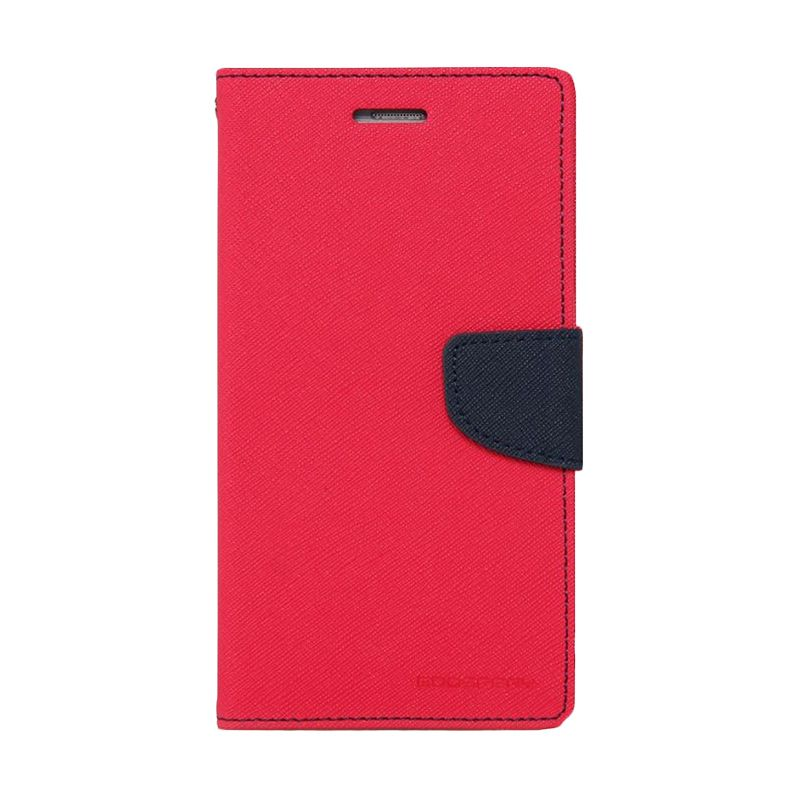 Mercury Goospery Fancy Diary Hotpink Navy Casing for Xiaomi Mi4i