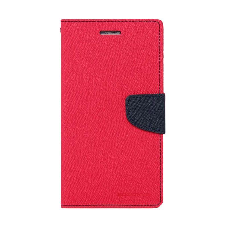 Mercury Goospery Fancy Diary Hotpink Navy Casing for Xiaomi Note 2