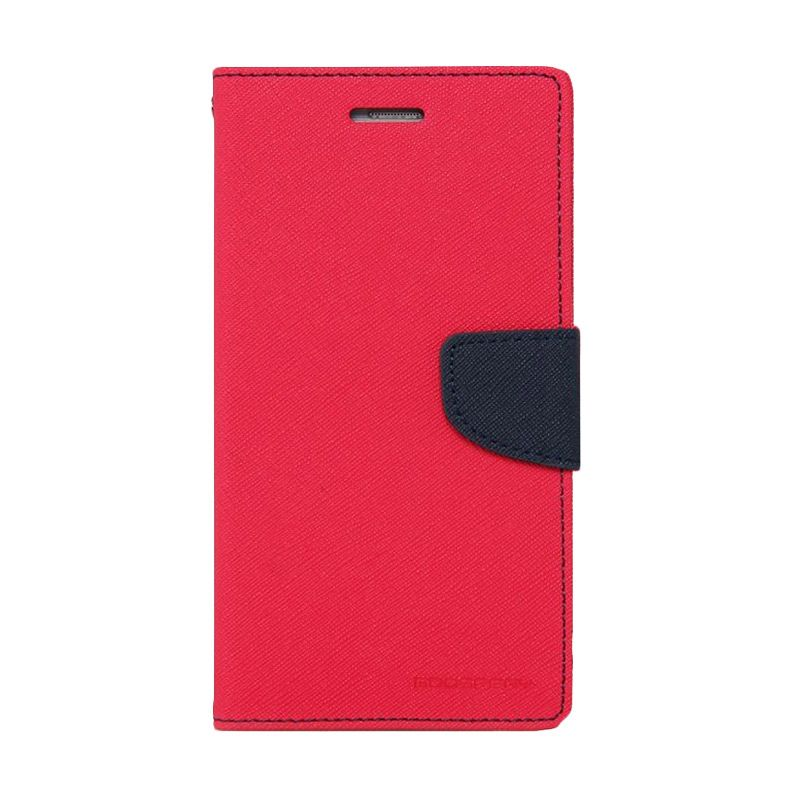 Mercury Goospery Fancy Diary Hotpink Navy Casing for Xiaomi Note