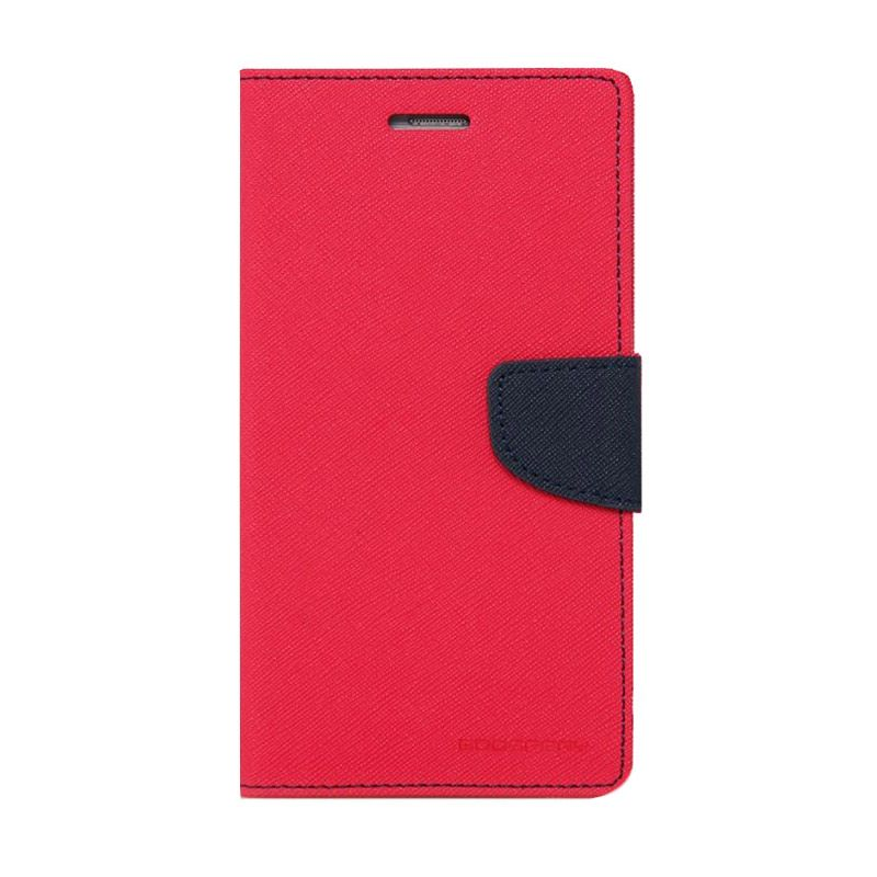 Mercury Goospery Fancy Diary Hot Pink Navy Casing for Xperia SP