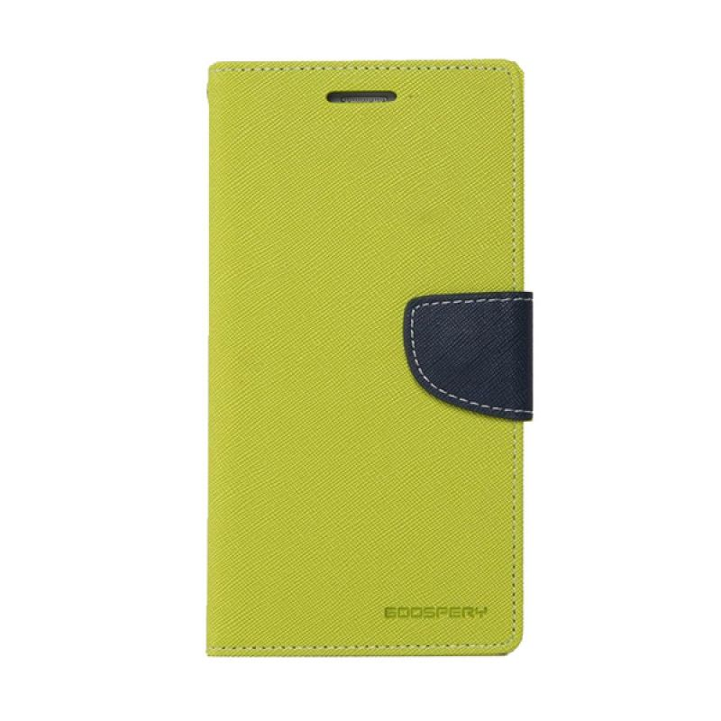 Mercury Goospery Fancy Diary Lime Navy Casing for Galaxy E5