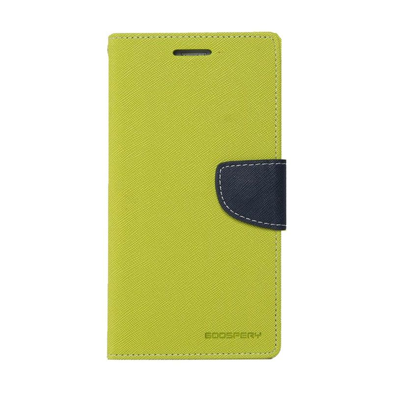Mercury Goospery Fancy Diary Lime Navy Casing for Galaxy Note 3