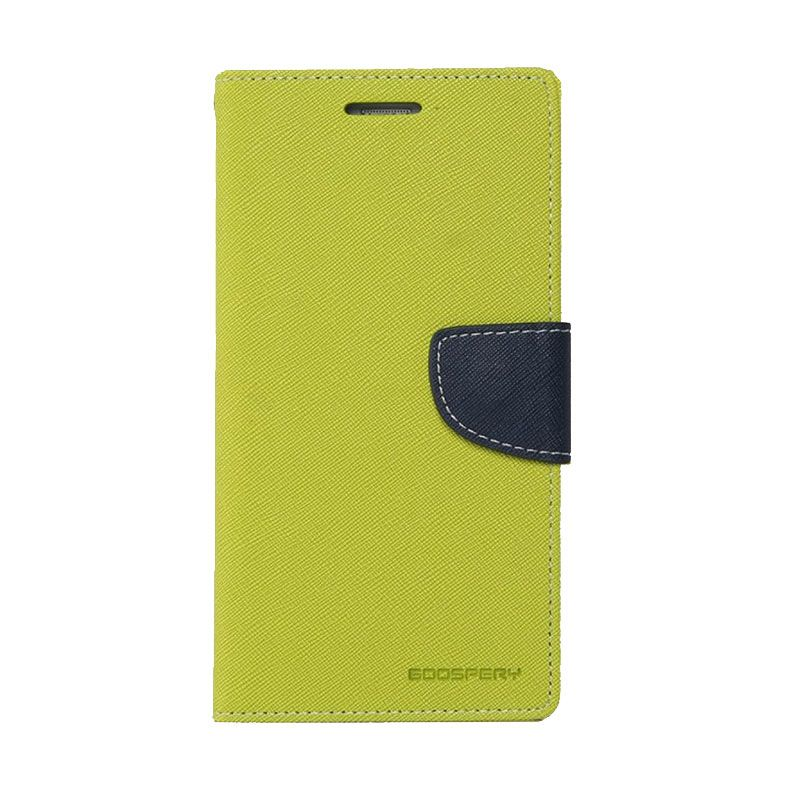 Mercury Goospery Fancy Diary Lime Navy Casing for Galaxy S4