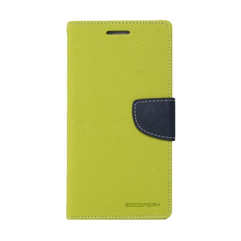 Mercury Goospery Fancy Diary Lime Navy Casing for HTC One Mini