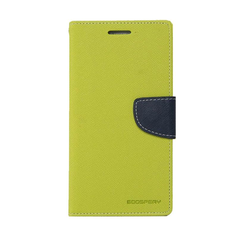 Mercury Goospery Fancy Diary Lime Navy Casing for Iphone 6 Plus