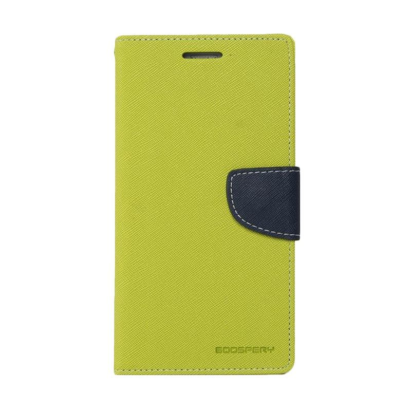 Mercury Goospery Fancy Diary Lime Navy Casing for LG G3 Stylus