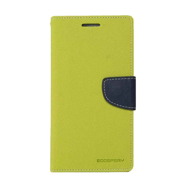 Mercury Goospery Fancy Diary Lime Navy Casing for LG G3