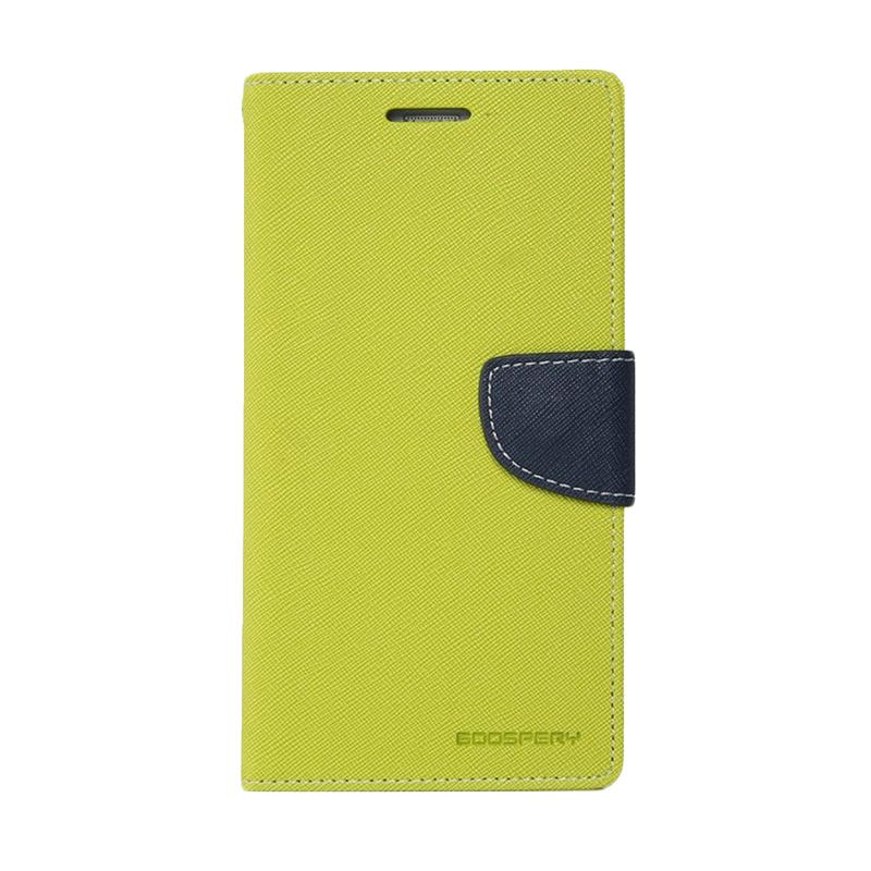 Mercury Goospery Fancy Diary Lime Navy Casing for Oppo Find 7