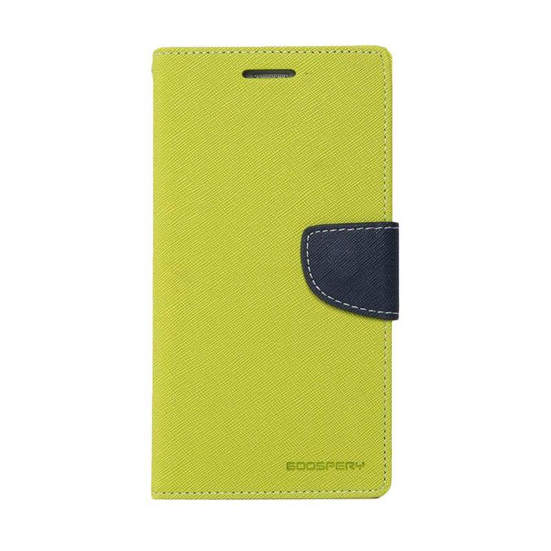 Mercury Goospery Fancy Diary Lime Navy Casing for Oppo R5