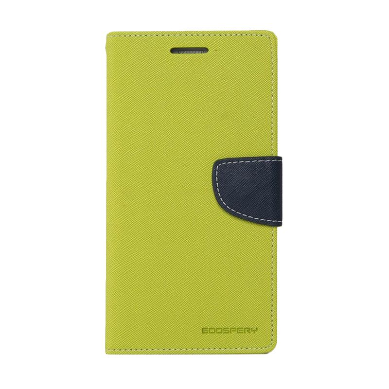 Mercury Goospery Fancy Diary Lime Navy Casing for Xiaomi Mi4