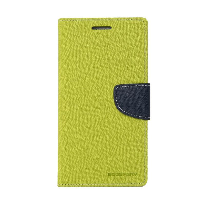 Mercury Goospery Fancy Diary Lime Navy Casing for Xperia T3