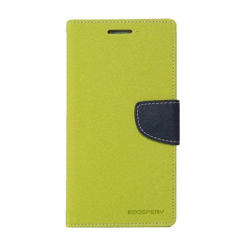 Mercury Goospery Fancy Diary Lime Navy Casing for Xperia Z