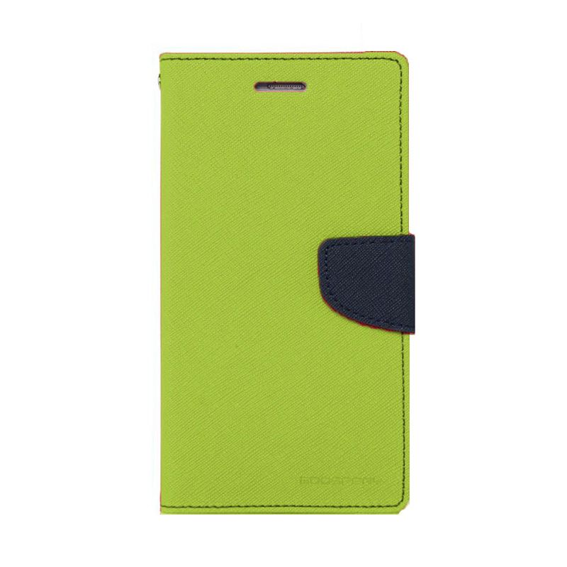 Mercury Goospery Fancy Diary Lime Navy Flip Cover Casing for Galaxy Note Edge