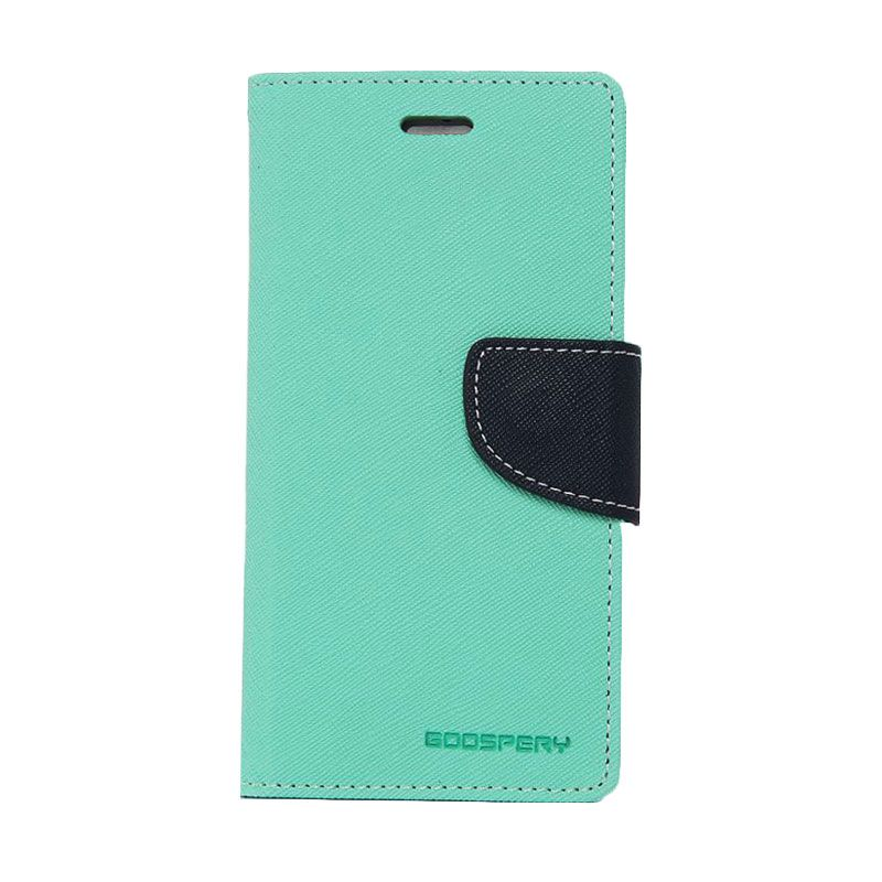 Mercury Goospery Fancy Diary Mint Navy Casing for Galaxy Note 3
