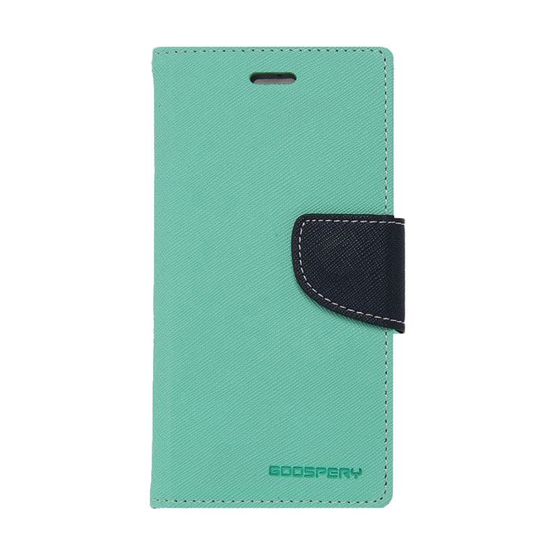Mercury Goospery Fancy Diary Mint Navy Casing for Galaxy S4