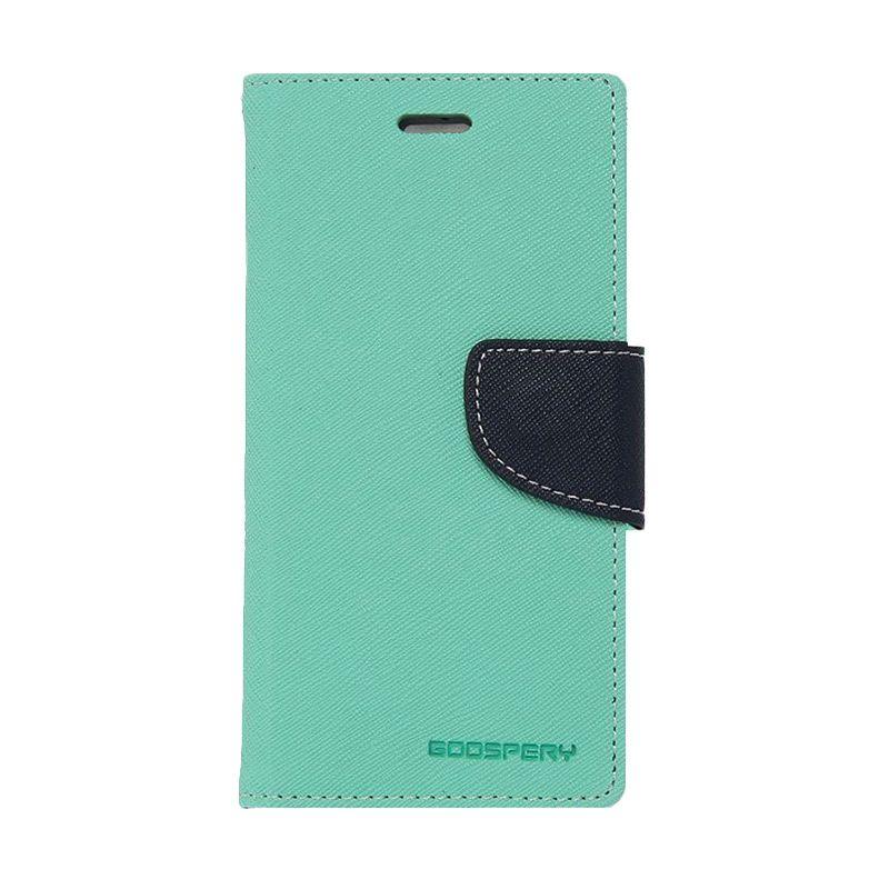 Mercury Goospery Fancy Diary Mint Navy Casing for Galaxy S6