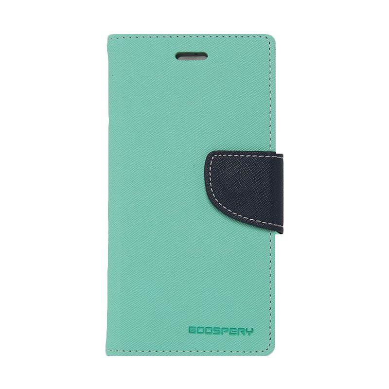 Mercury Goospery Fancy Diary Mint Navy Casing for Samsung Galaxy E7