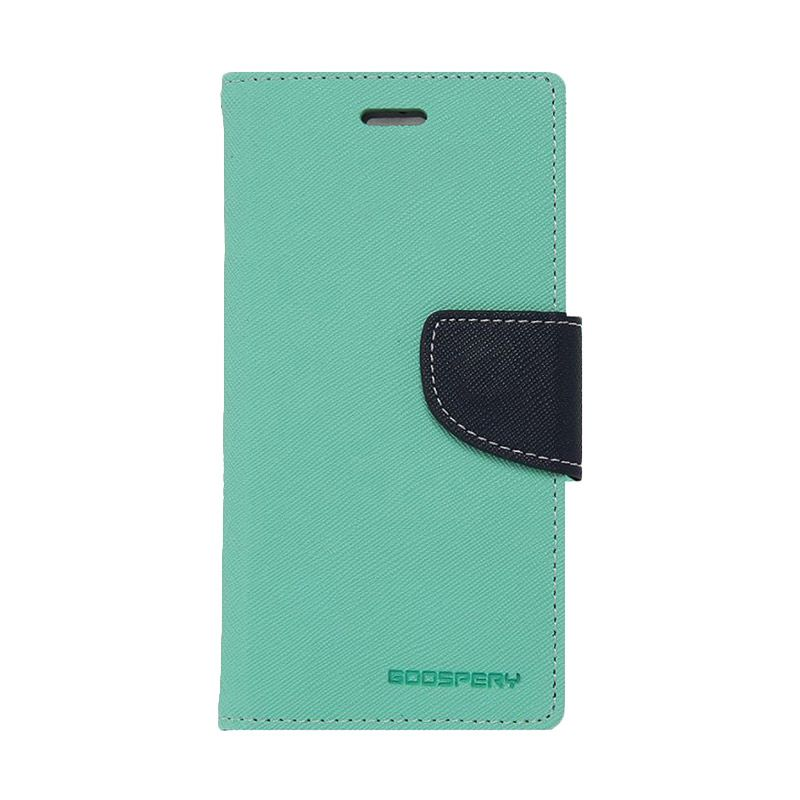 Mercury Goospery Fancy Diary Mint Navy Casing for Samsung Galaxy Note 4 edge