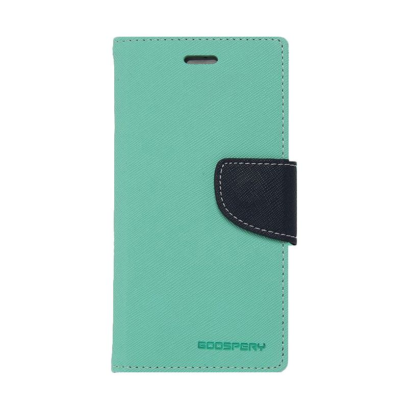 Mercury Goospery Fancy Diary Mint Navy Casing for Samsung Galaxy Note 4