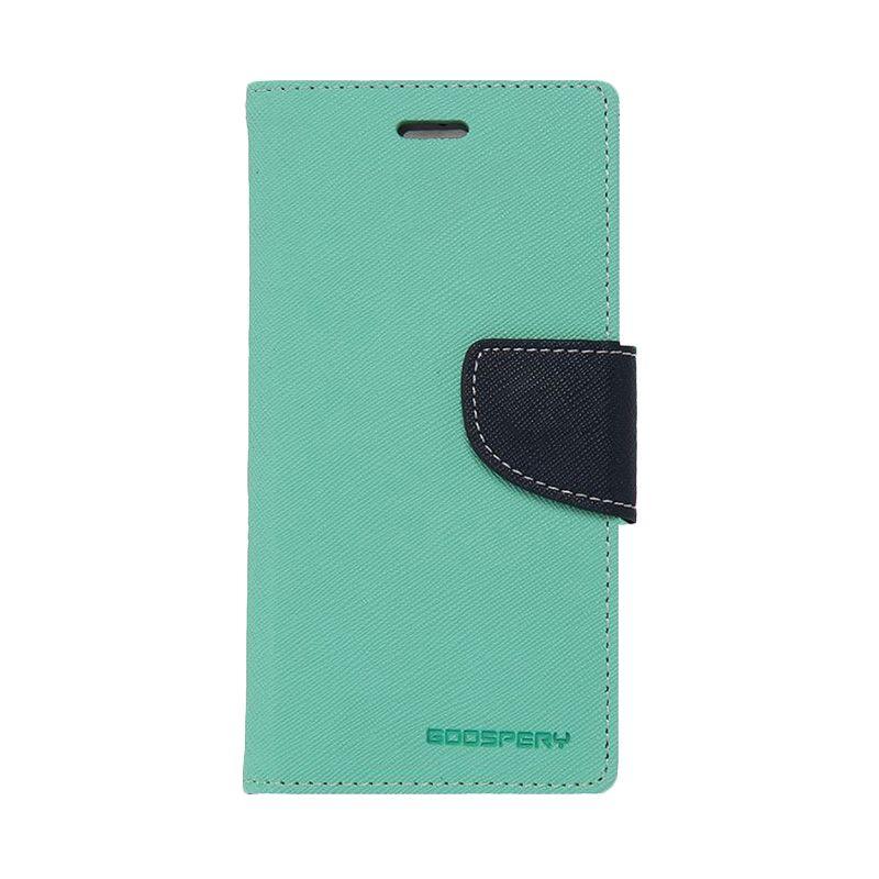 Mercury Goospery Fancy Diary Mint Navy Casing for Xiaomi Note 2