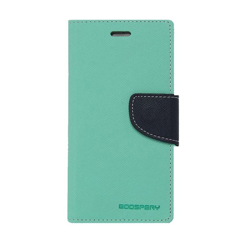 Mercury Goospery Fancy Diary Mint Navy Casing for Xperia Z4