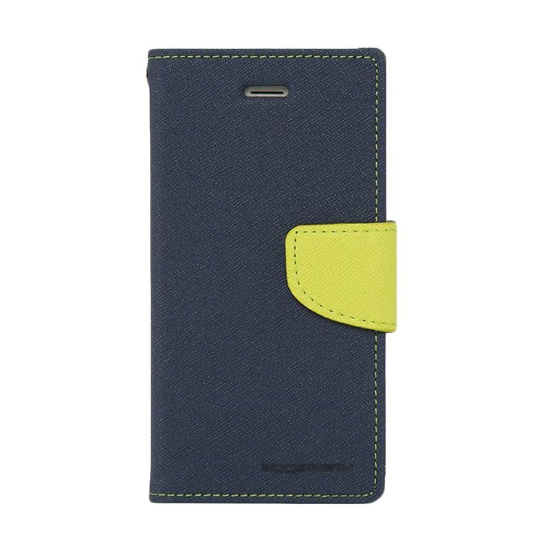 Mercury Goospery Fancy Diary Navy Lime Casing for LG G3