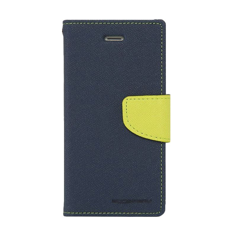 Mercury Goospery Fancy Diary Navy Lime Casing for Xiaomi Note