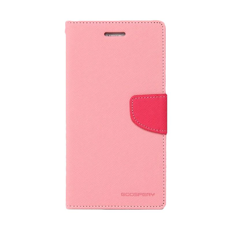 Mercury Goospery Fancy Diary Pink Hot Pink Casing for Galaxy A7
