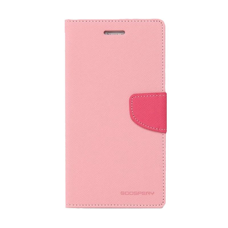 Mercury Goospery Fancy Diary Pink Hot Pink Casing for Samsung Galaxy E7