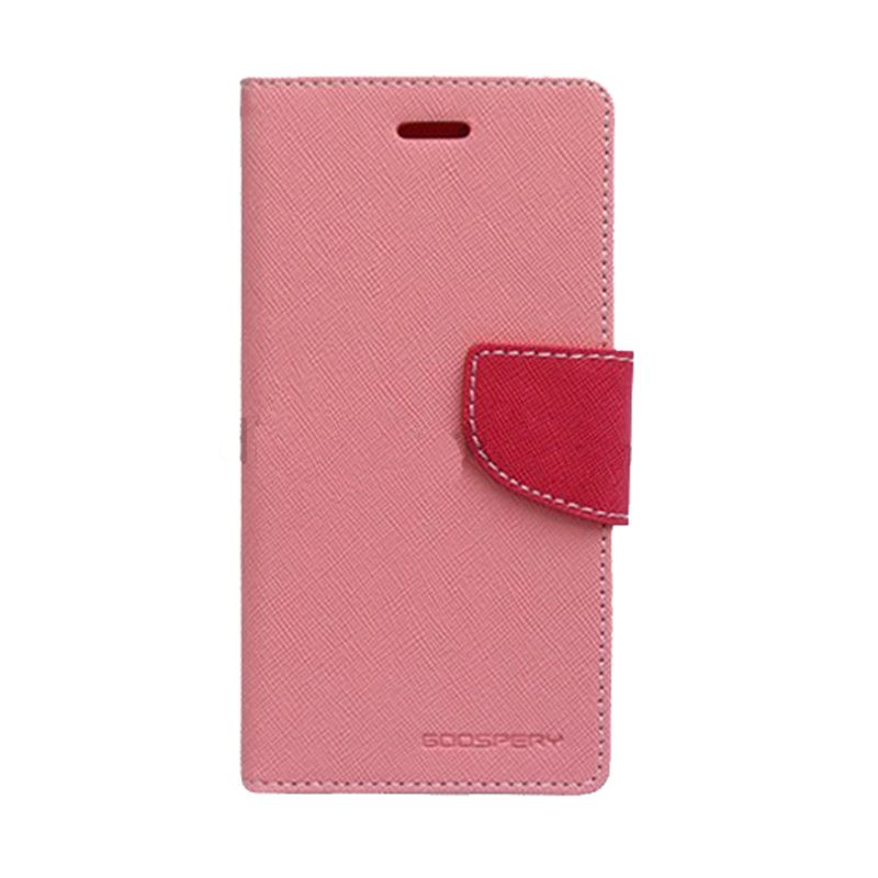 Mercury Goospery Fancy Diary Pink Hot Pink Flip Cover Casing for Galaxy Ace 3