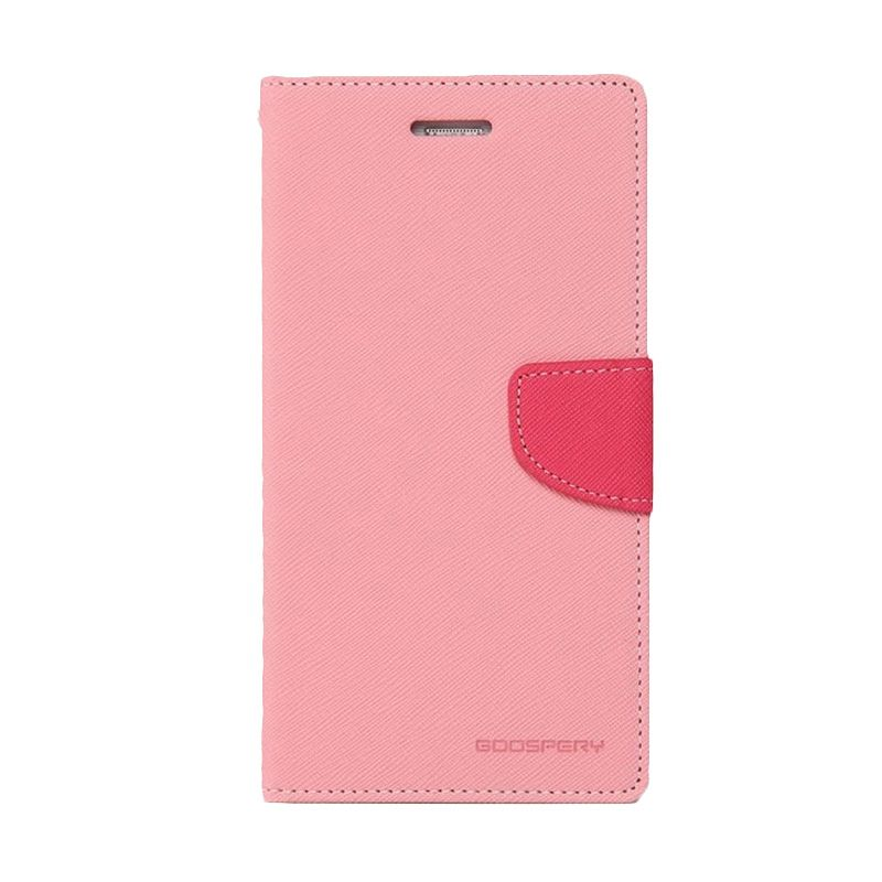Mercury Goospery Fancy Diary Pink Hotpink Casing for Galaxy Alpha