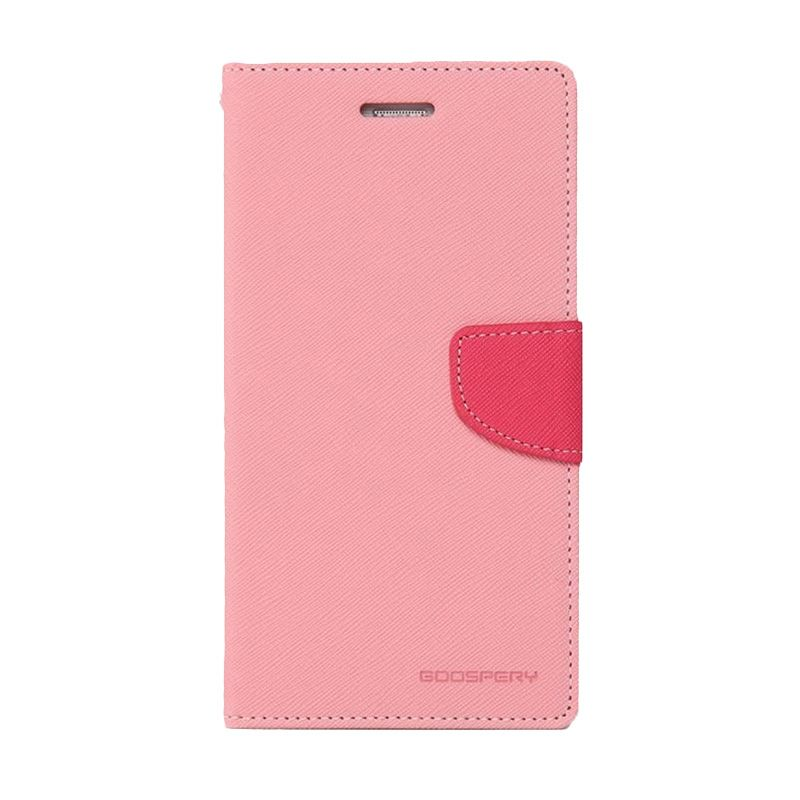 Mercury Goospery Fancy Diary Pink Hotpink Casing for Galaxy E3