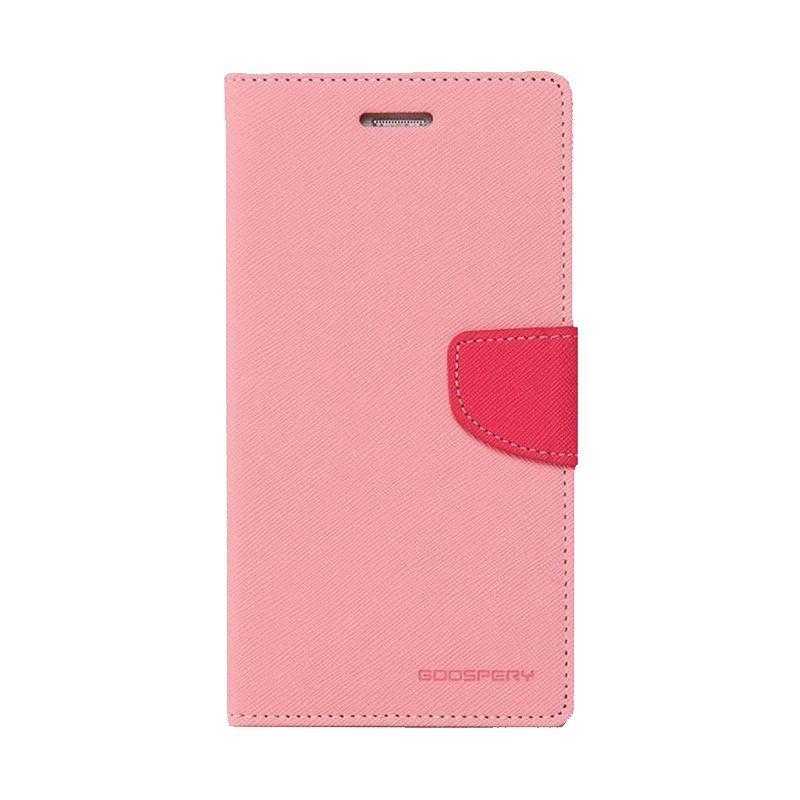 Mercury Goospery Fancy Diary Pink Hot Pink Casing for Galaxy E5