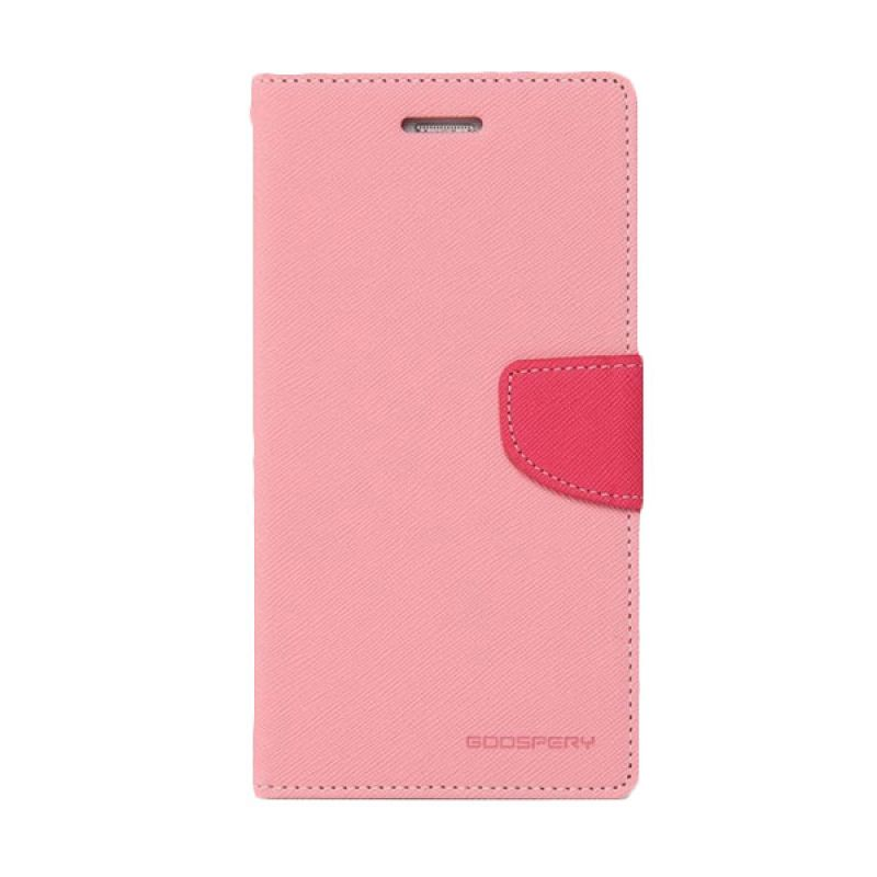 Mercury Goospery Fancy Diary Pink Hotpink Casing for Galaxy Grand Neo
