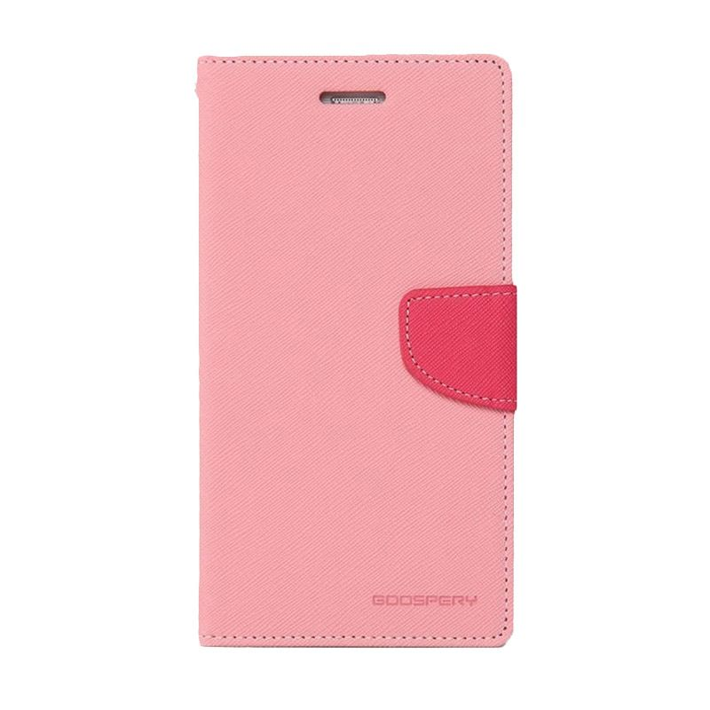 Mercury Goospery Fancy Diary Pink Hotpink Casing for Galaxy Mega 2