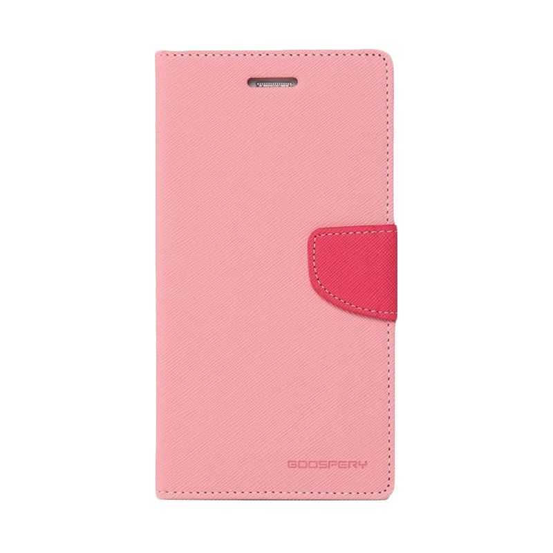 Mercury Goospery Fancy Diary Pink Hotpink Casing for Galaxy Mega 5.8